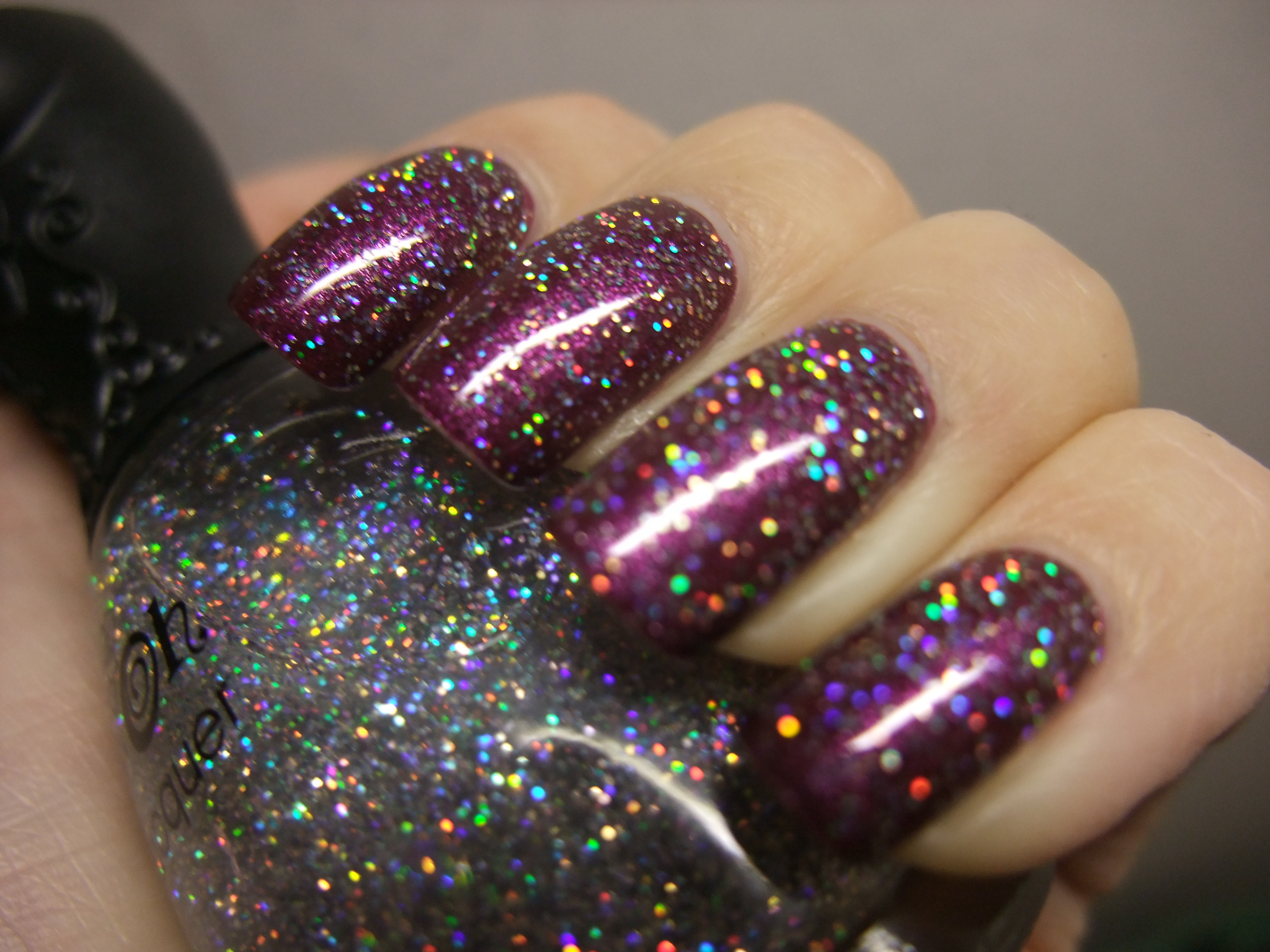 Nfu Oh Gs04 Glitter Series Silver Grey Holo Holographic Nail Polish