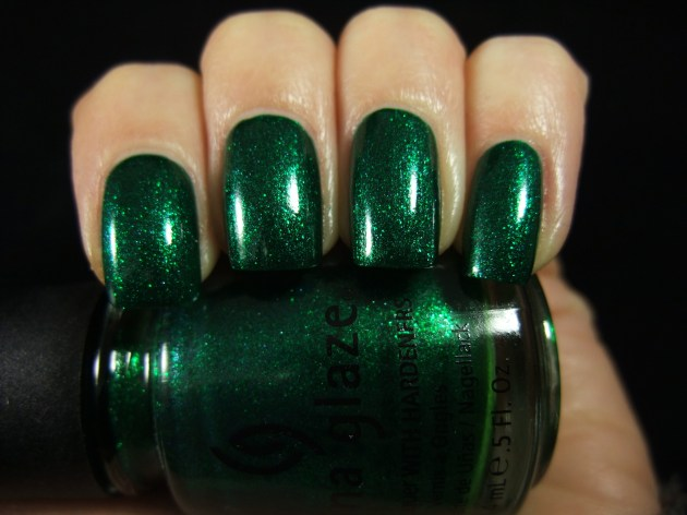 China Glaze - Emerald Sparkle 08