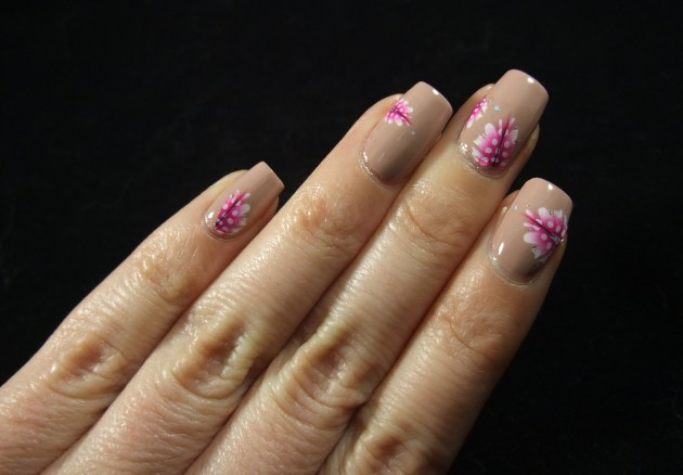 Pink Feather Water Decals 04