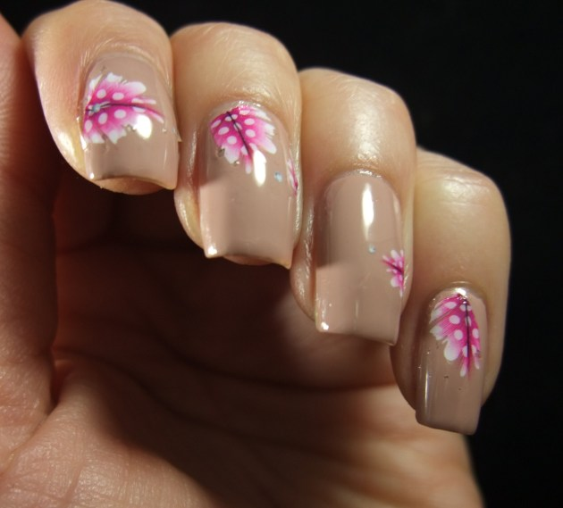 Pink Feather Water Decals 05