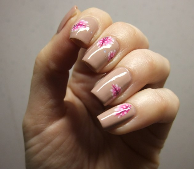 Pink Feather Water Decals 06
