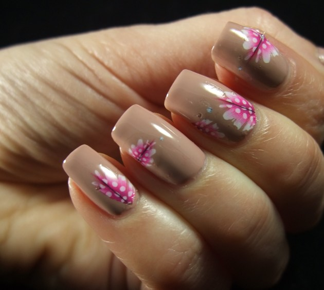 Pink Feather Water Decals 08