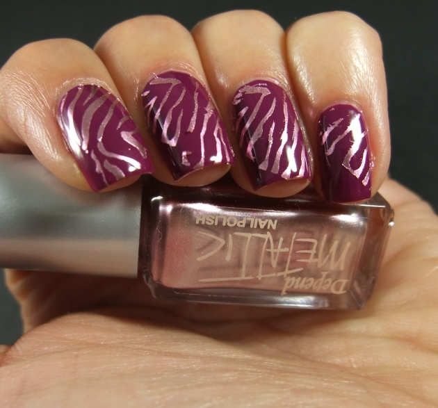 Metallic Zebra Pattern 03