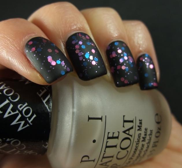 Gina Tricot - Berry Glitter matte 06