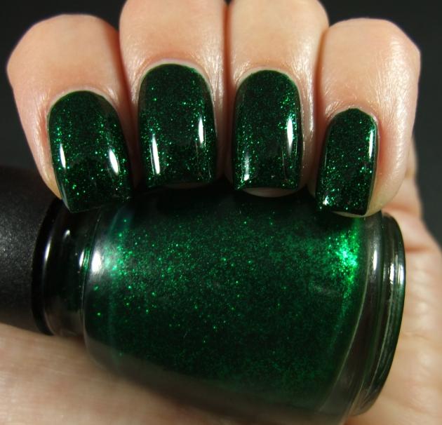 China Glaze - Emerald Sparkle 03