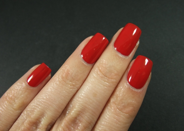 qp nailpolish - Red Gawn one coat 03
