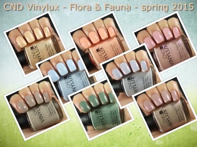 CND Vinylux - Flora & Fauna collage
