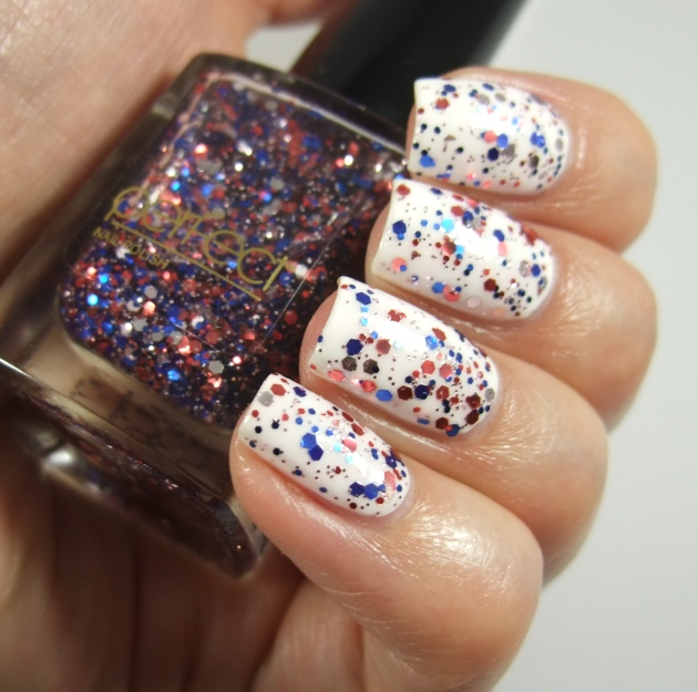 Perfect - Blue Red Glitter 10