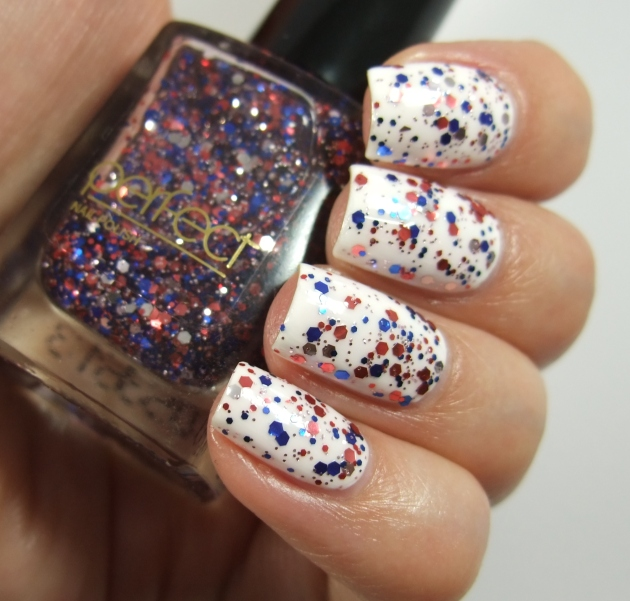 Perfect - Blue Red Glitter 13