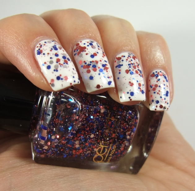 Perfect - Blue Red Glitter 14