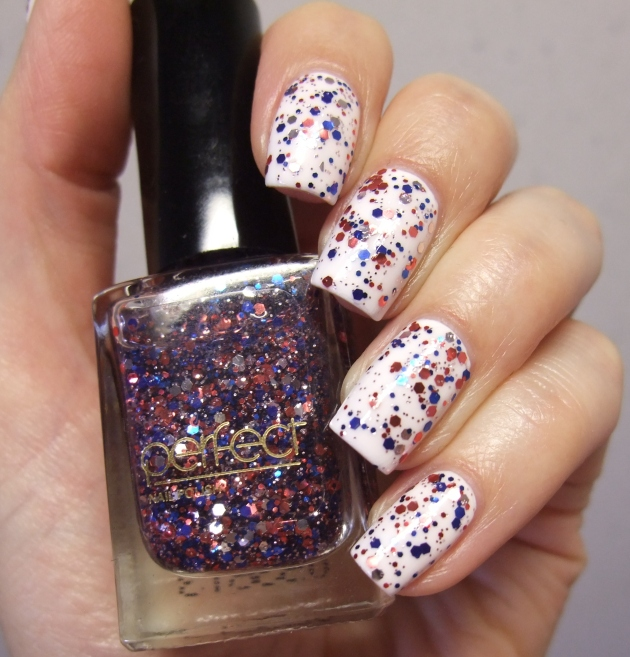 Perfect - Blue Red Glitter 17